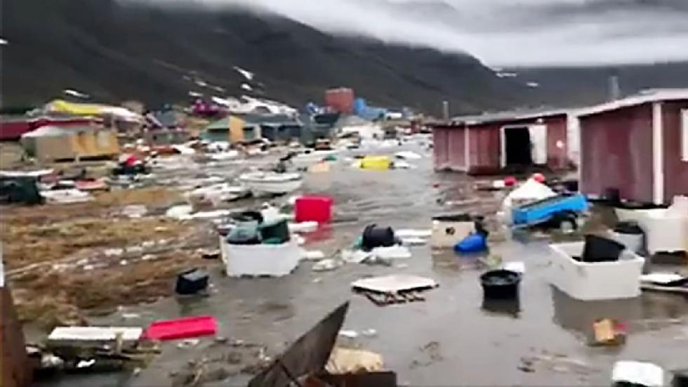 Un Tsunami Golpea A Una Parte De Groenlandia