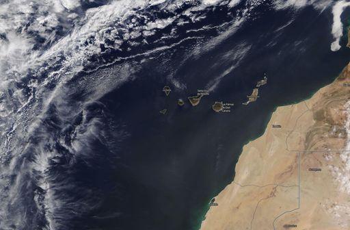 Una borrasca intensificará la calima sobre Canarias