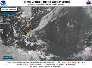 Una depresión tropical podría formarse en la costa este de Florida