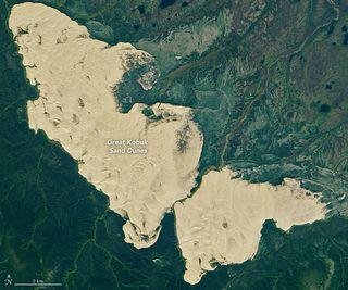 Una extensión inesperada de arenas en Alaska