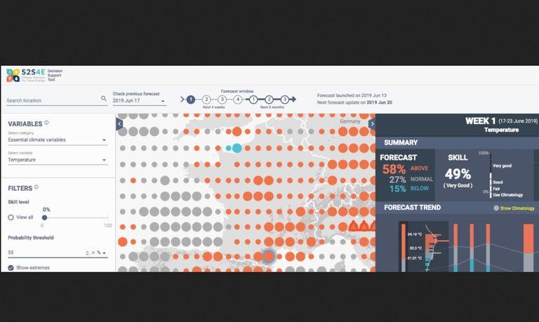 Captura de pantalla de la nueva herramienta del BSC