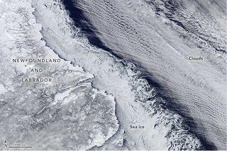 Una intersección de tierra, hielo, mar y nubes