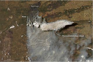 Una nube de fuego en Argentina