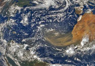 Una nube de polvo que se ve desde el espacio llega a América