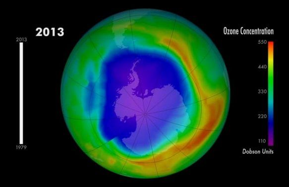 Una Sustancia Prohibida Destruye La Capa De Ozono