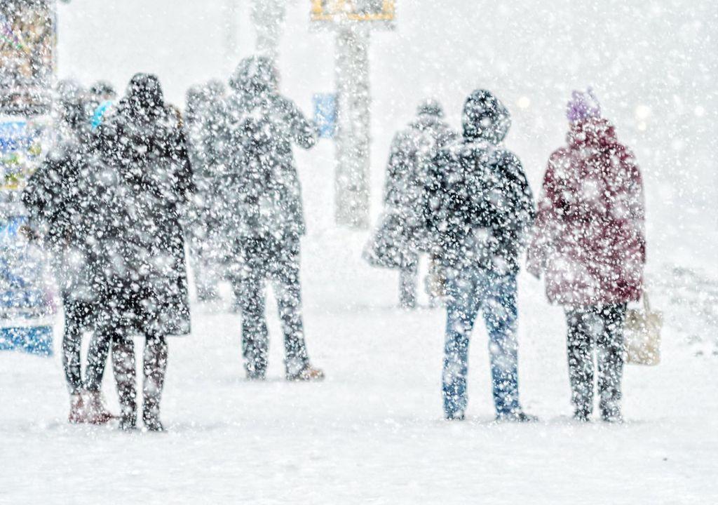 Schneesturm über Deutschland