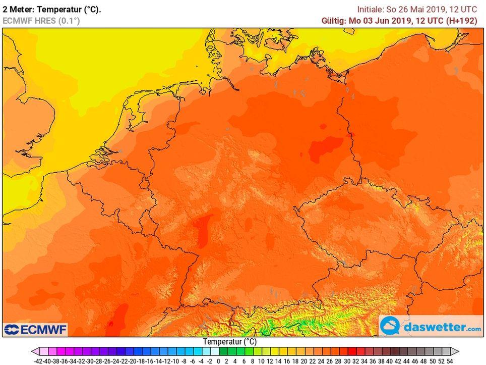 Hitze Anfang Juni