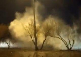 Videos de la marea extraordinaria que afectó las costas de Chubut