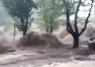 Videos Impactantes del desborde de ríos en el Valle de Punilla
