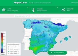 Visor de escenarios de cambio climático para España