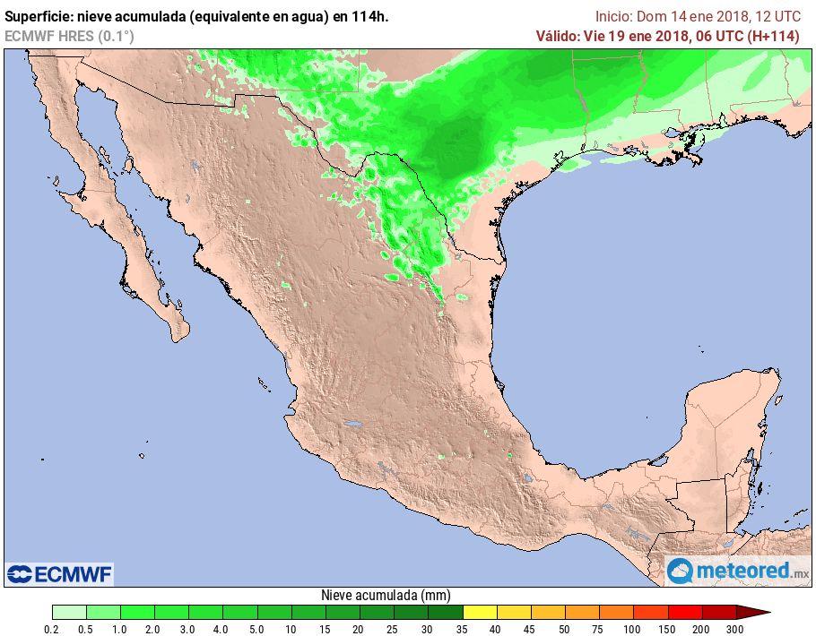 Prevén frío intenso en 20 estados y nevadas en 3