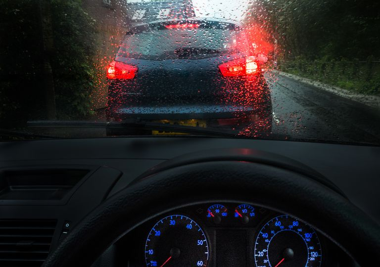 Wet windscreen.