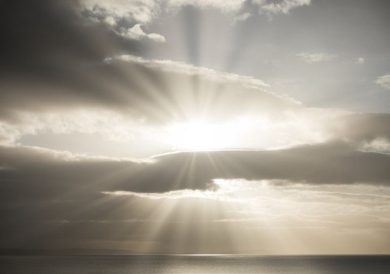 Sun rays.