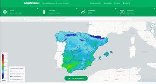 Web para informar de los impactos del cambio climático