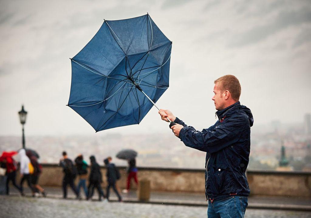 Regen Wind Herbstwetter