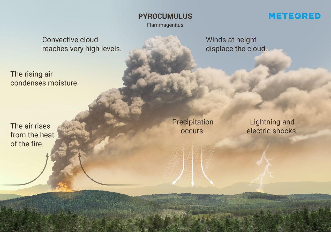 What are pyrocumulus or flammagenitus clouds?