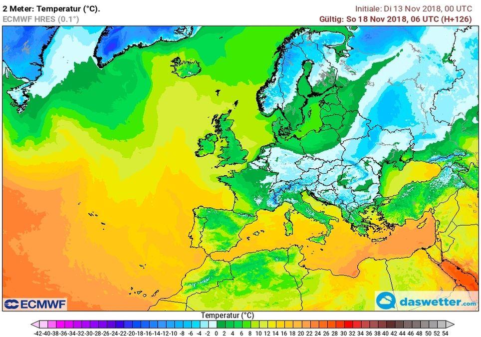 Kälte erreicht Deutschland