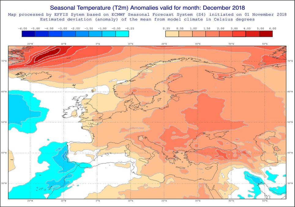 Dezember zu warm