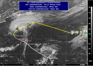 Y la tormenta tropical Paulette resucitó muy al noroeste de Canarias