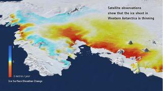 Zonas de la Antártida se están elevando 41 mm por año
