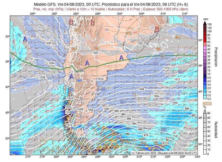Mapa De Lluvia Gfs.Modelos Uruguay Gfs America Sur Lat 25 50 Meteored