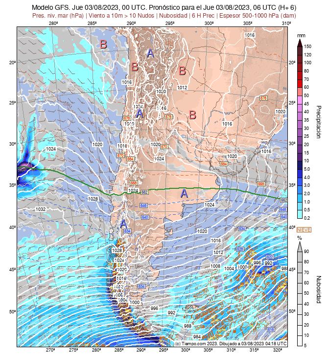 Mapa De Lluvia Gfs.Modelos Chile Gfs Chile Meteored