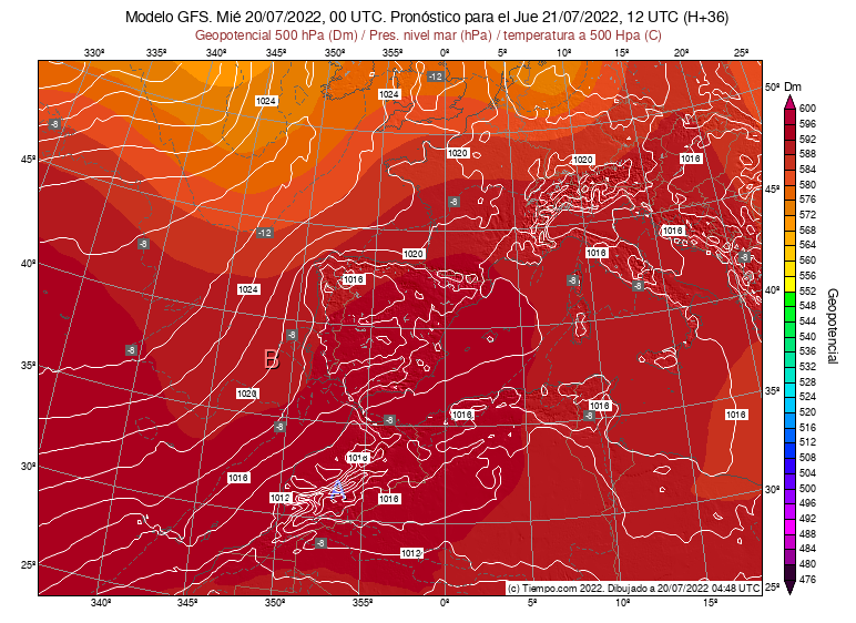 Radar. Composición Península y Baleares