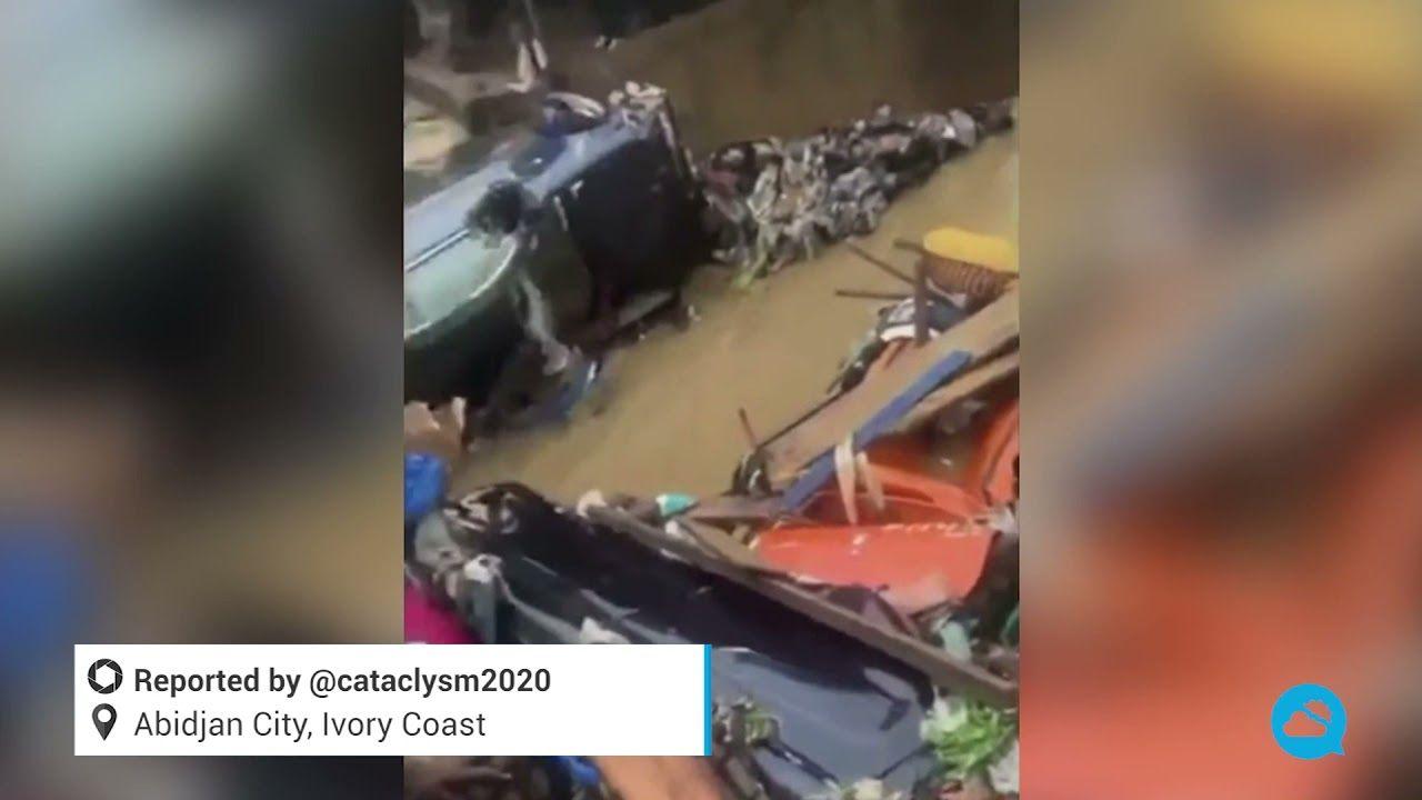 Inundaciones mortales en Costa de Marfil