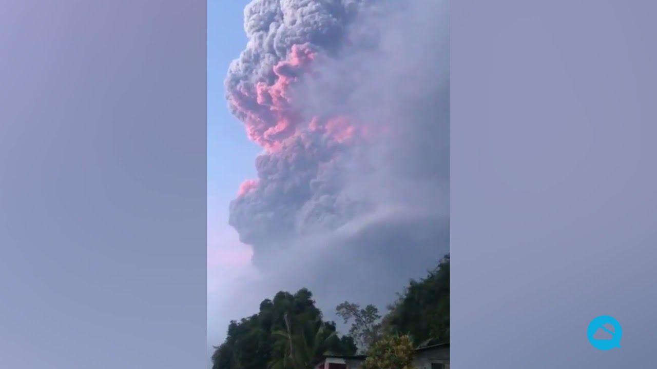 Impresionante erupção do vulcão La Soufrière, em San Vicente e Granadinas