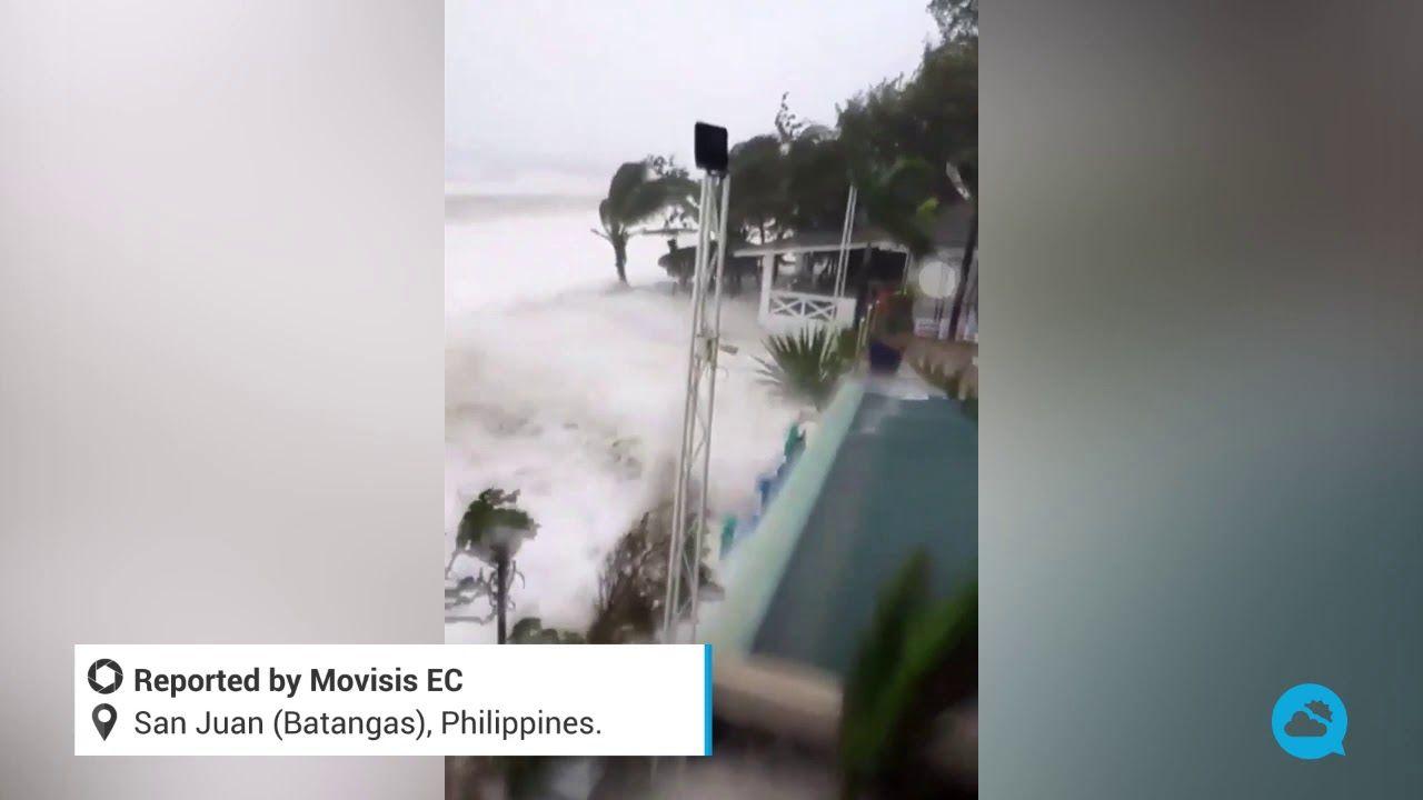 El tifón Molave golpea a Filipinas