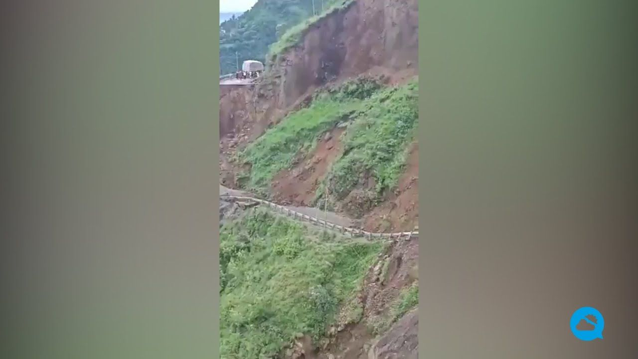 Massive landslide in Himachal Pradesh in northern India