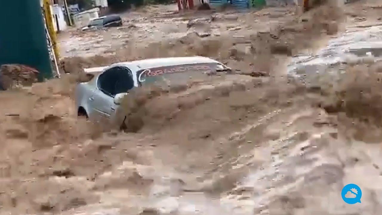 Graves inundaciones en el estado de Sonora, México