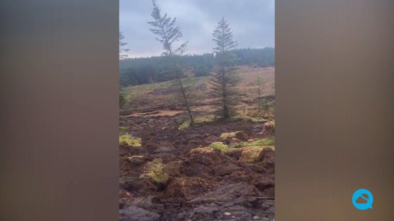 Peat landslide south of Ballybofey, Ireland