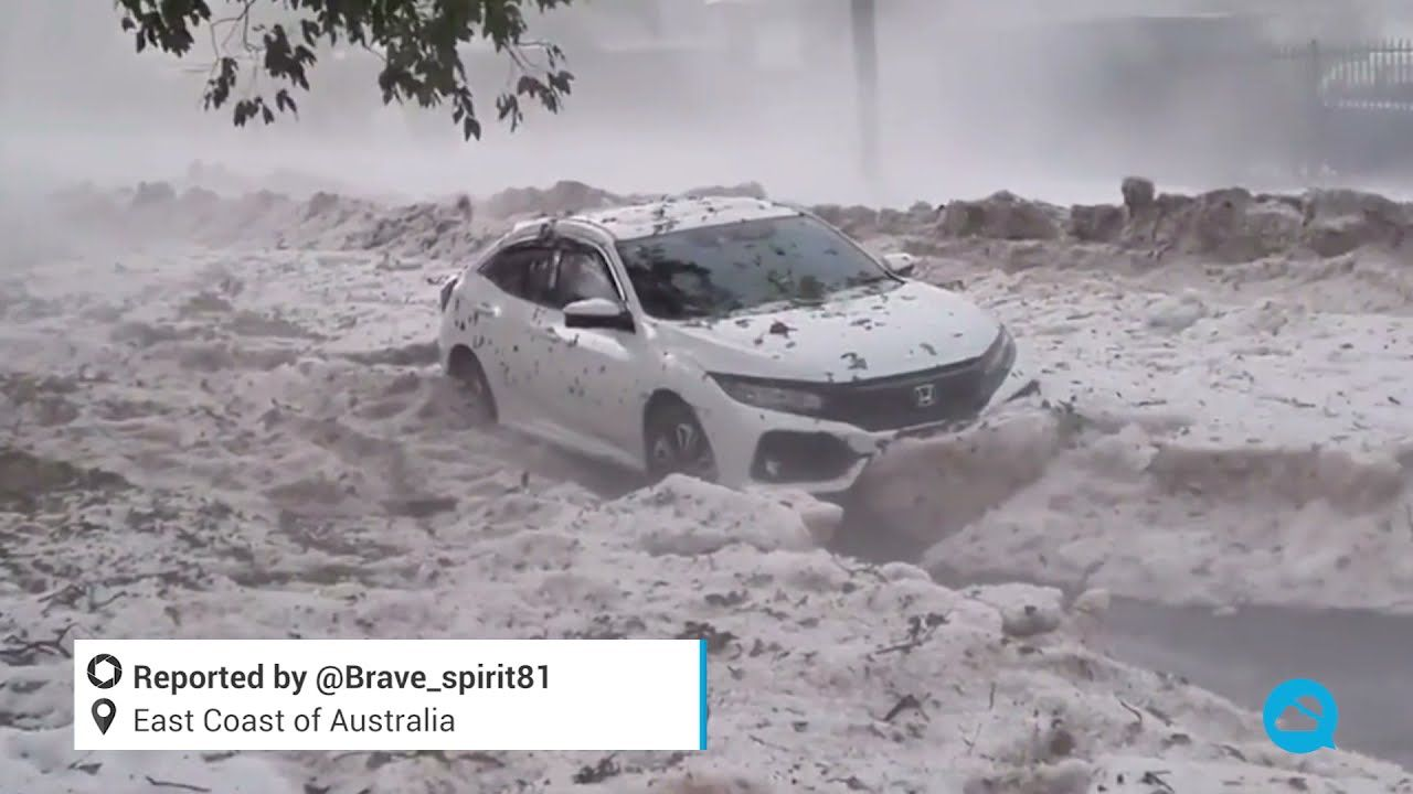 Potentes tormentas de granizo golpearon Australia