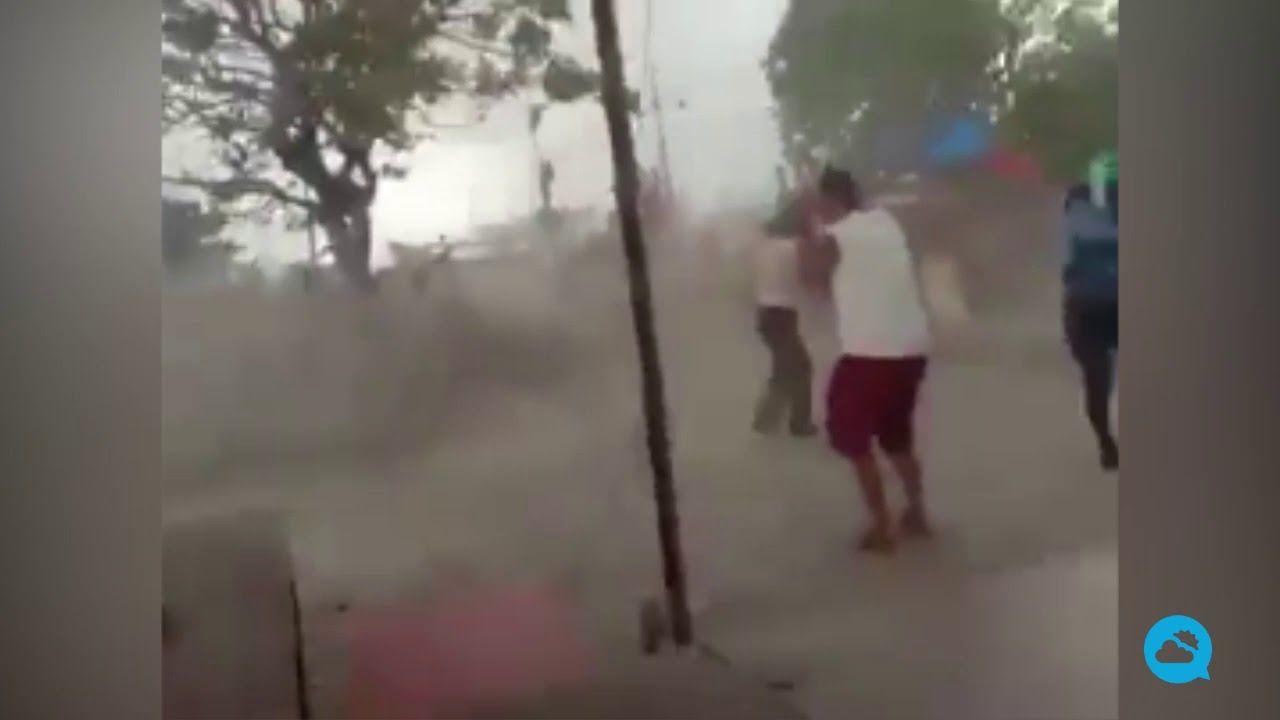Tornado en Bekasi, Indonesia