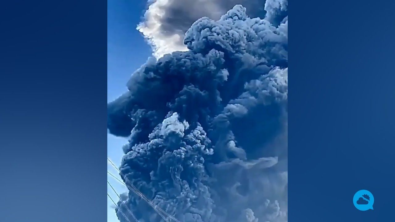 El volcán de La Soufrière, en fase de erupción explosiva