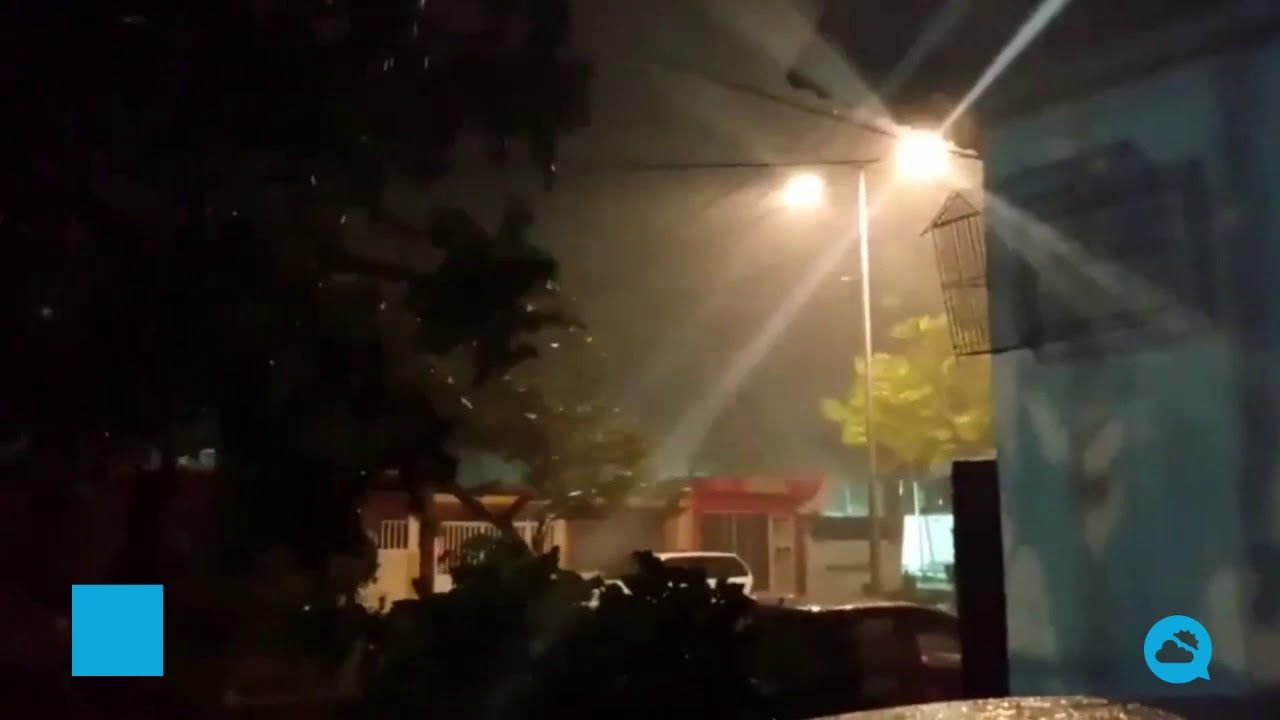 Hurricane Zeta hits the Yucatan Peninsula, Mexico